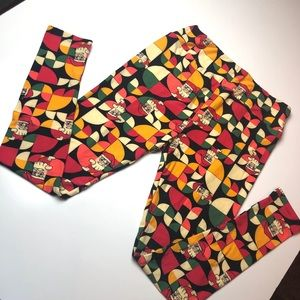 LuLaRoe TC Christmas Leggings